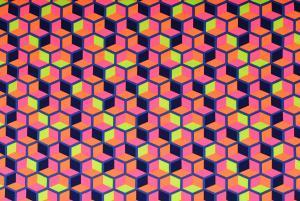 Flerfärgad hexagon