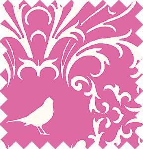 Vita fåglar på rosa botten