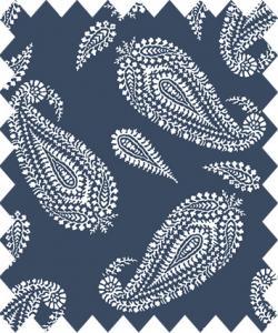 Gütermann paisley blå botten