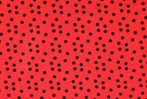 Viskåstrikå - Rött med svarta prickar