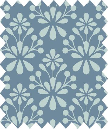 Blå mönster