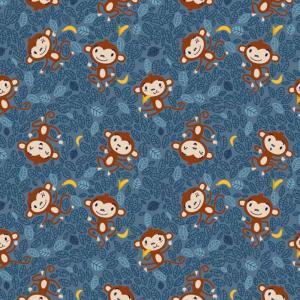 Apor med blå botten