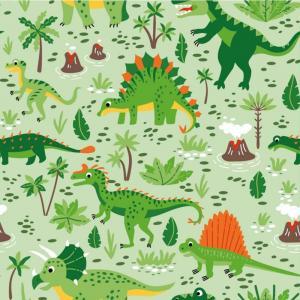 Dinosaurier grön botten