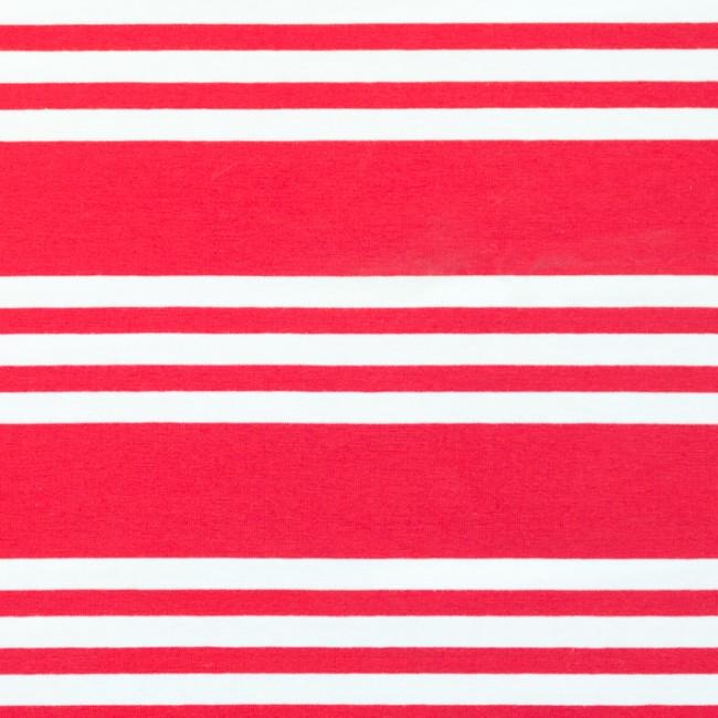 3-randig trikå - Röd och vit
