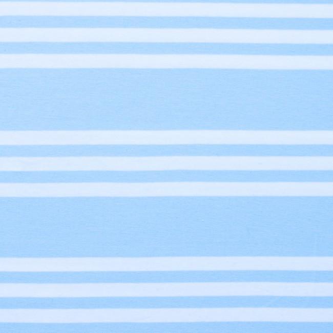 3-randig trikå - Ljusblå och vit