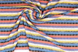 Randigt ribbstickat i flera färger
