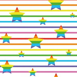 Stiped stars - rainbow