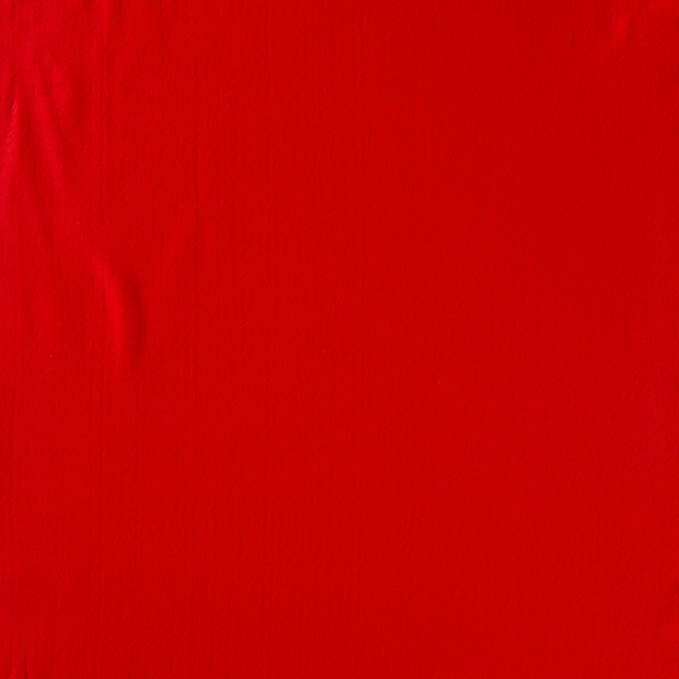 Bomullsfleece - Röd