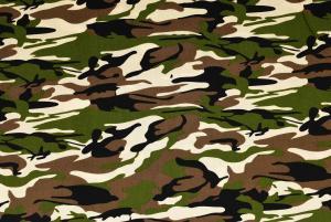 Vävd bomull Camouflage - Grön