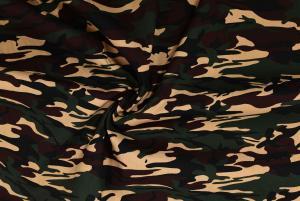 Vävd bomull Camouflage - Mörkgrön