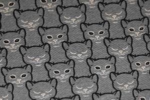 Stickad jaquard - Katter