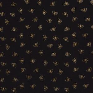 Folierad bomullstrikå - Guldiga bin