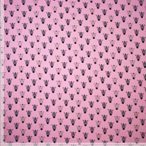 Zebror i glitter på rosa botten