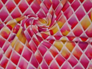 Romb - Röd, rosa, gul