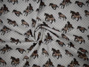 Hästar på vit botten