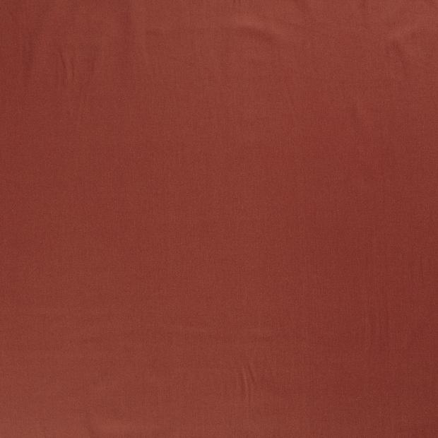 Bomullstwill med stretch - Tegelröd
