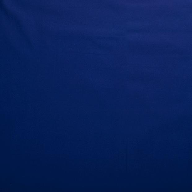 Bomullstwill med stretch - Koboltblå