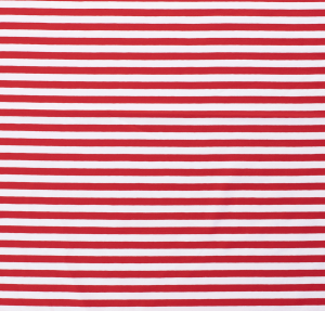 Randig bomullstrikå - Röd och vit