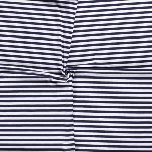 Randig bomullstrikå - Marinblå och vit