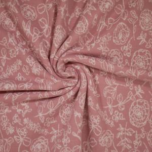 Rosor på rosa botten