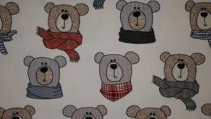 Söta björnar på cremefärgad botten