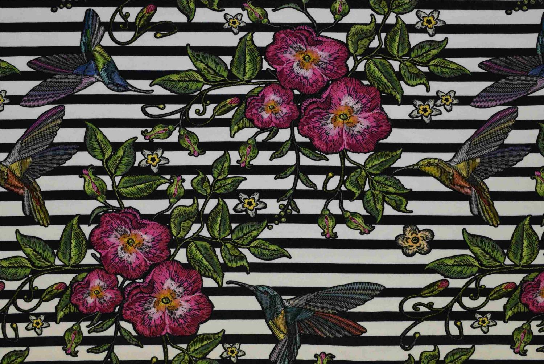 Blommor/kollibrier
