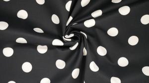 Marinblå med vita prickar