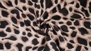 Krinklad bomull Leopard