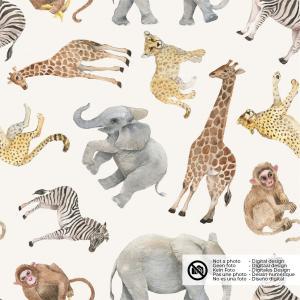 Djur på naturvit botten