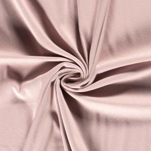 Ribbad trikå - Ljusrosa
