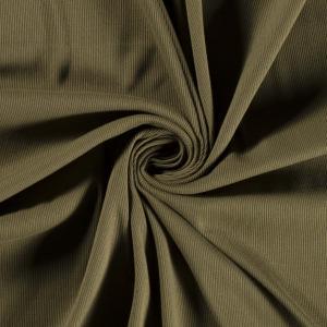 Ribbad trikå - Khaki grön