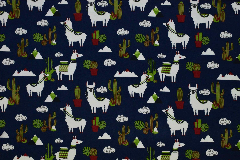 Lamadjur med kaktusar
