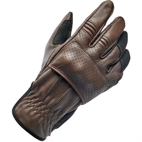 Biltwell Borrego Leather Glove, Chocolate