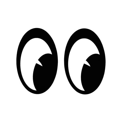 Davida Moon Eyes Klistermärke