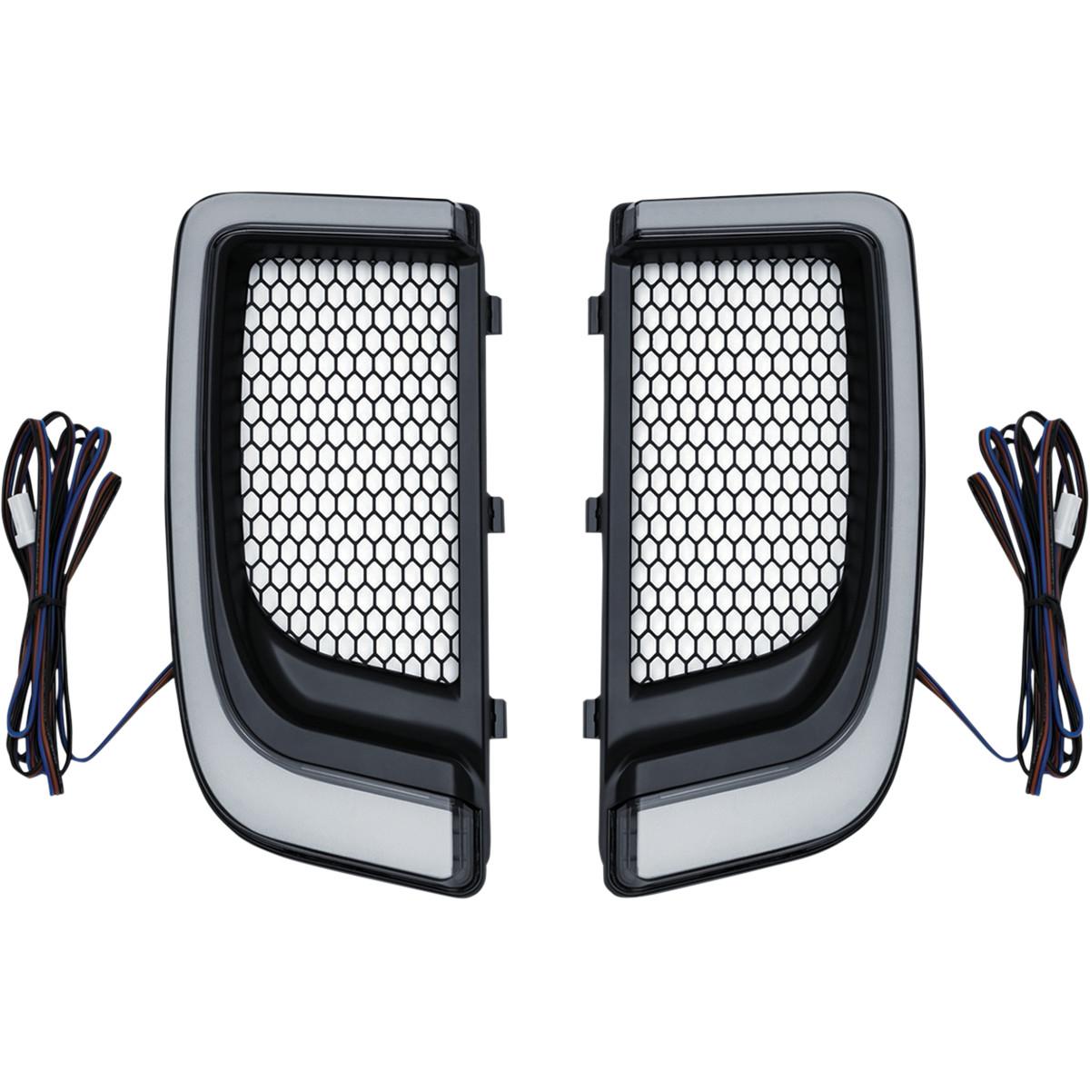 Kuryakyn Tracer LED Fairing Lower Grills till 14-Upp H-D Touring