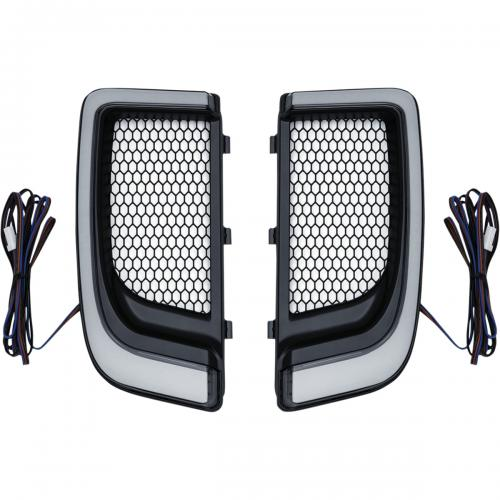 Kuryakyn Tracer LED Fairing Lower Grills till 14-Upp H-D Touring