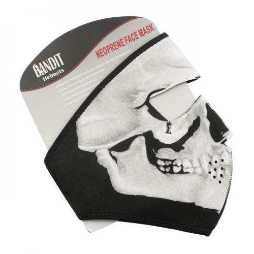 Bandit Ansiktsmask Skull Svart