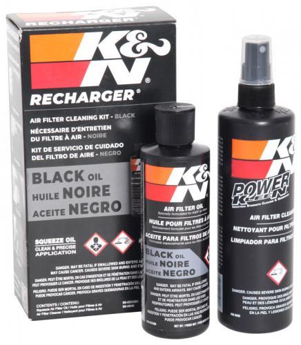 K&N Recharger Luftfilter Service Kit, Svart