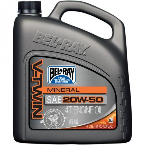 Bel-Ray V-Twin Motorolja Mineral SAE 20W50, 4L