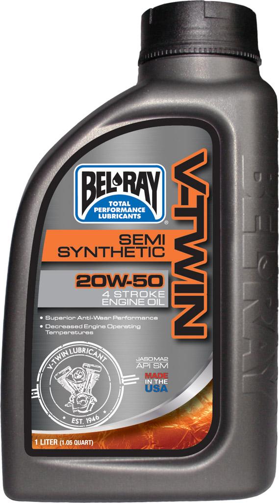 Bel-Ray Olja V-Twin Delsyntetisk 20W50