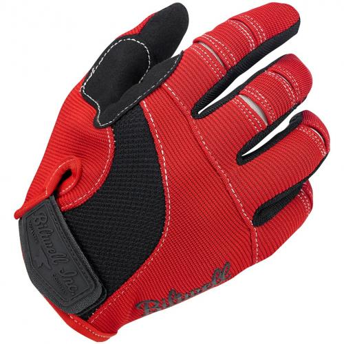 Biltwell Moto MC-Handskar, Röda