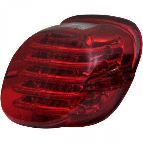 Custom Dynamics ProBeam Låg Profil Röd Baklampa till 99-Upp Harley