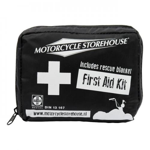 Första Hjälpen Kit Till Motorcykeln