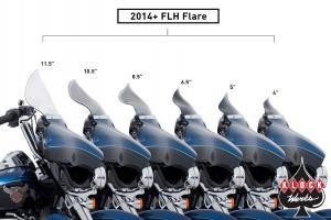 Klock Werks Flare Vindruta till 14-Upp Harley FLH