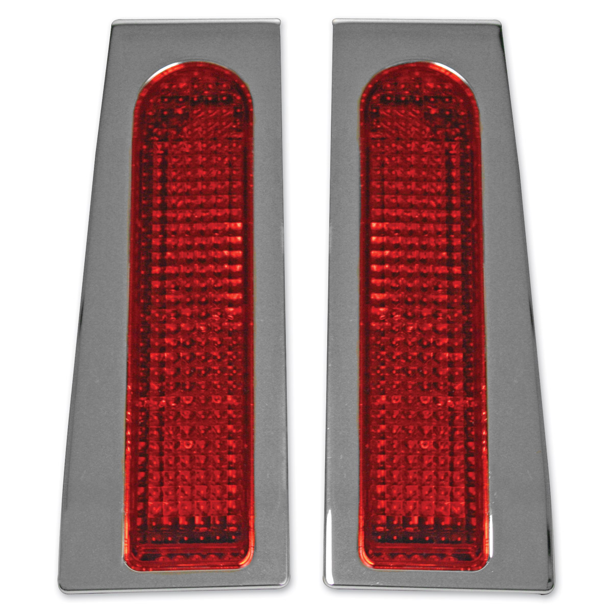 Custom Dynamics Fillerz™  LEDs för extra bakljus. Krom med Röd Lins