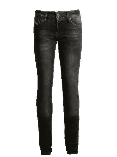 John Doe Jeans, Betty Svart -Låg Midja med Kevlar
