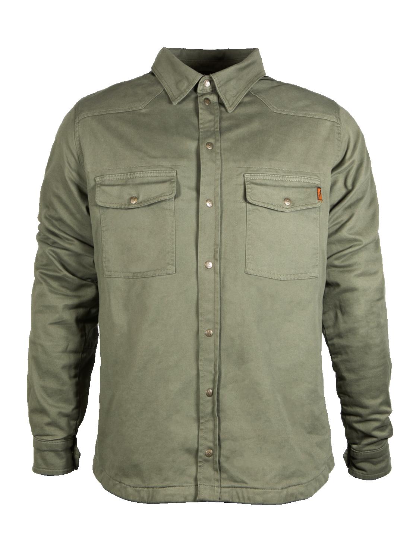 John Doe MOTO-kevlarskjorta, Olivgrön
