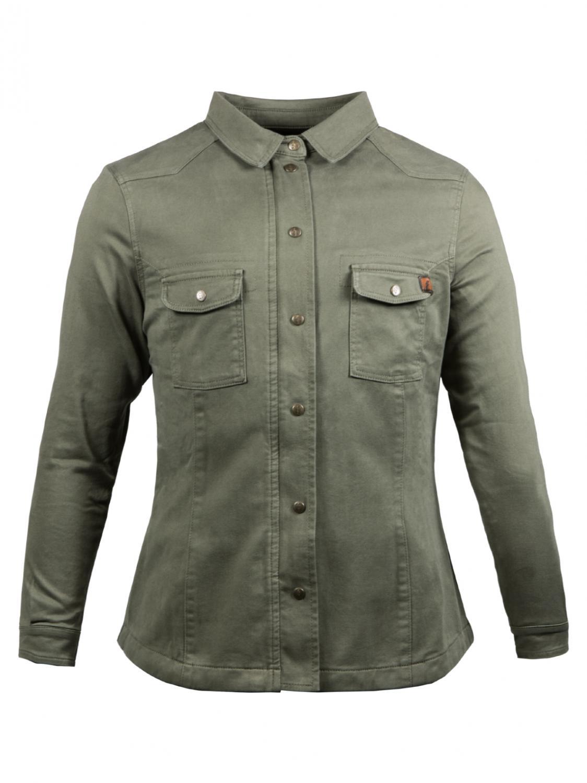 John Doe Dam MOTO-kevlarskjorta, Olivgrön