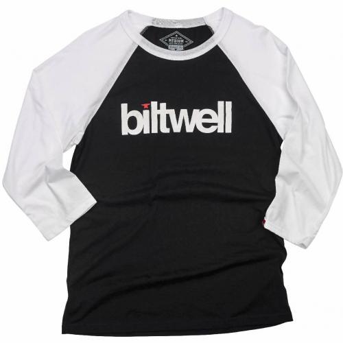 Biltwell Långärmad T-Shirt - Helvetica Raglan