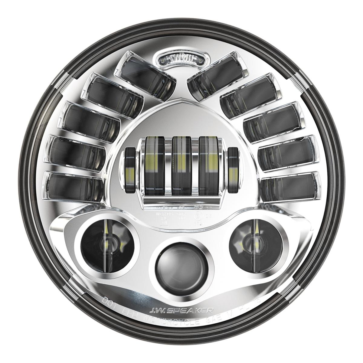 """J.W Speaker LED Framlampa 7"""" Model 8790, Krom"""